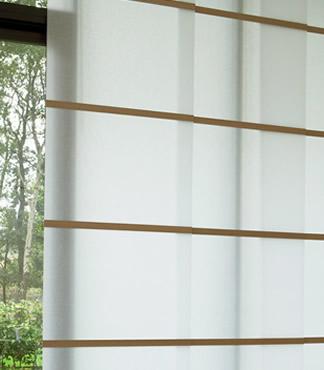 Voorkeur Wood Washi paneelgordijn zonwering specialist Amsterdam Luxaflex SL74